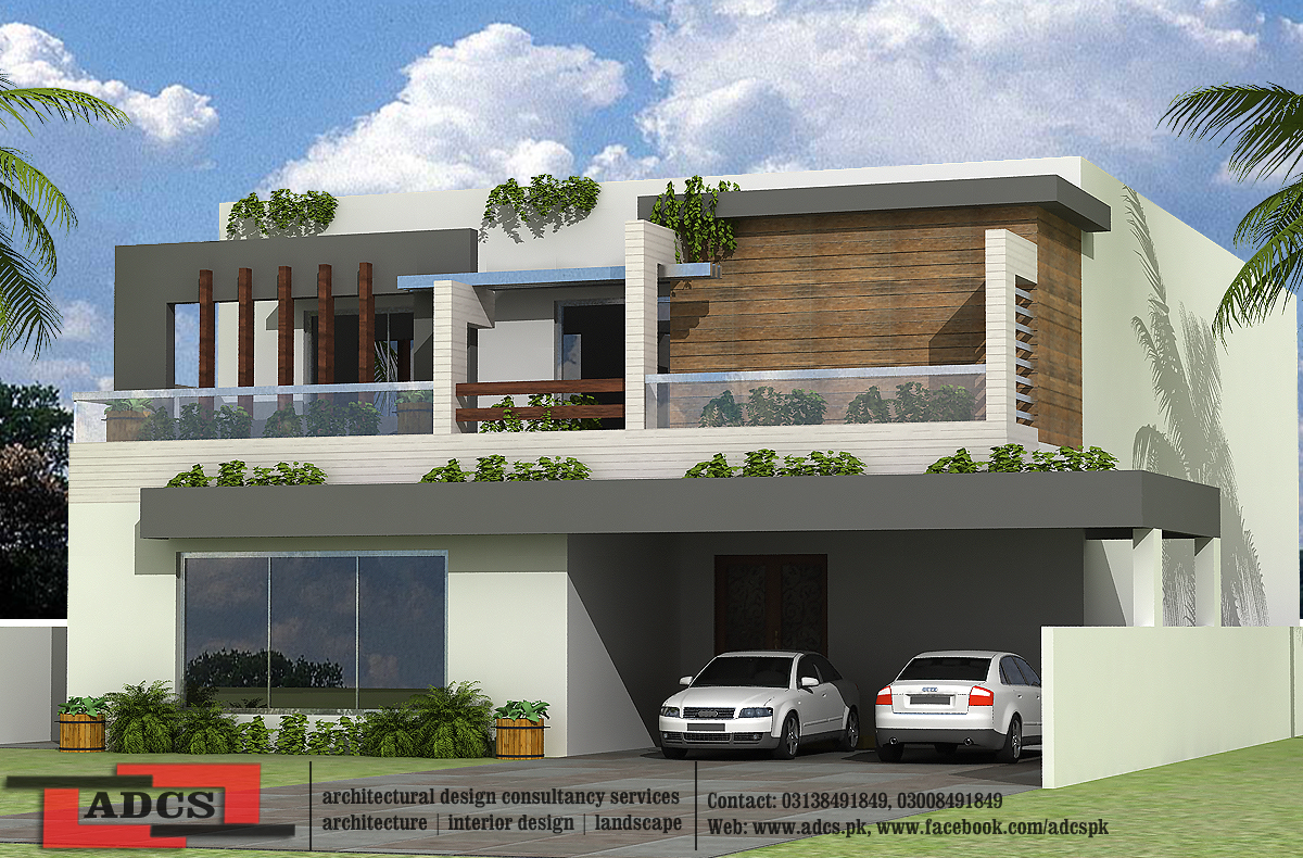 How To Design Home Front Elevation : One kanal house design home and style