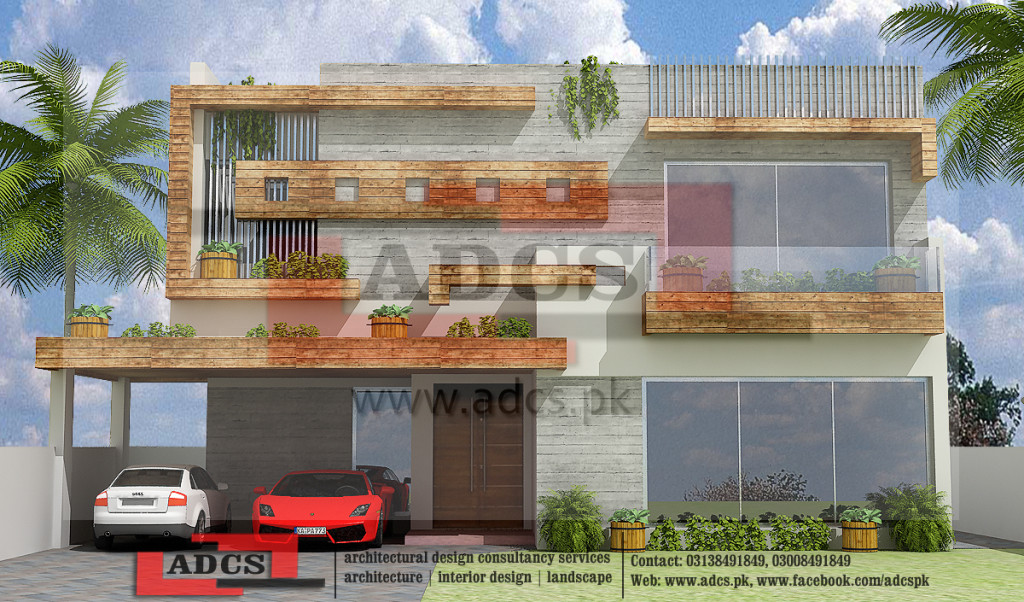 1 Kanal 3d Front Elevation Houses Design